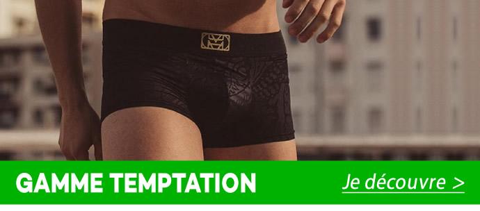 Un voile a été ajouté dans la couture de l'ourlet en bas de jambe pour un meilleur maintien sur la cuisse de ce boxer.