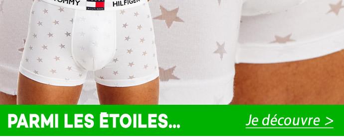 Prenez une double dose de style Tommy Hilfiger grâce à ce boxer qui associe motif étoiles et ceinture à logos.